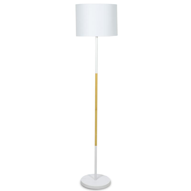 Μεταλλικό Φωτιστικό Δαπέδου Pwl-0005 Με Λευκό Καπέλο Φ33X149Εκ