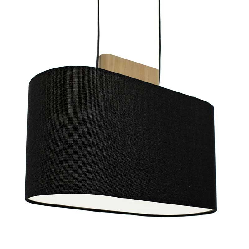 Κρεμαστό Φωτιστικό Οροφής Pwl-0027 Με Μαύρο Καπέλο 43X17,5X23Εκ