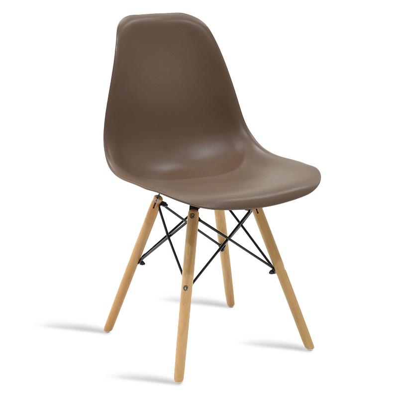 Καρέκλα Julita Pakoworld Pp Χρώμα Μόκα - Φυσικό