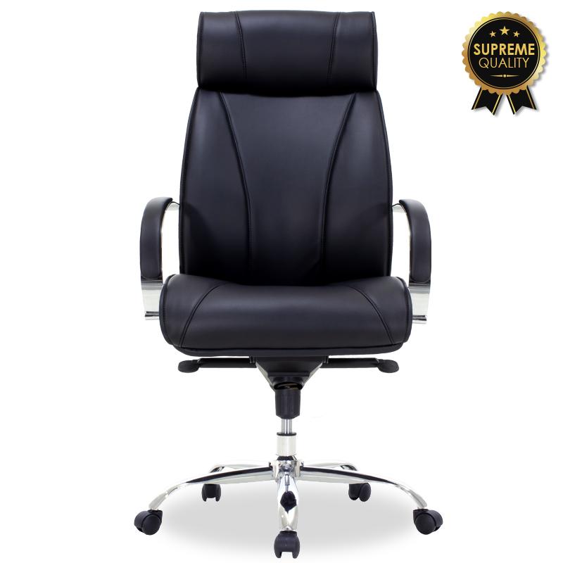 Καρέκλα Γραφείου Διευθυντή Nevada Pakoworld Supreme Quality Με Μαύρο Τεχνόδερμα