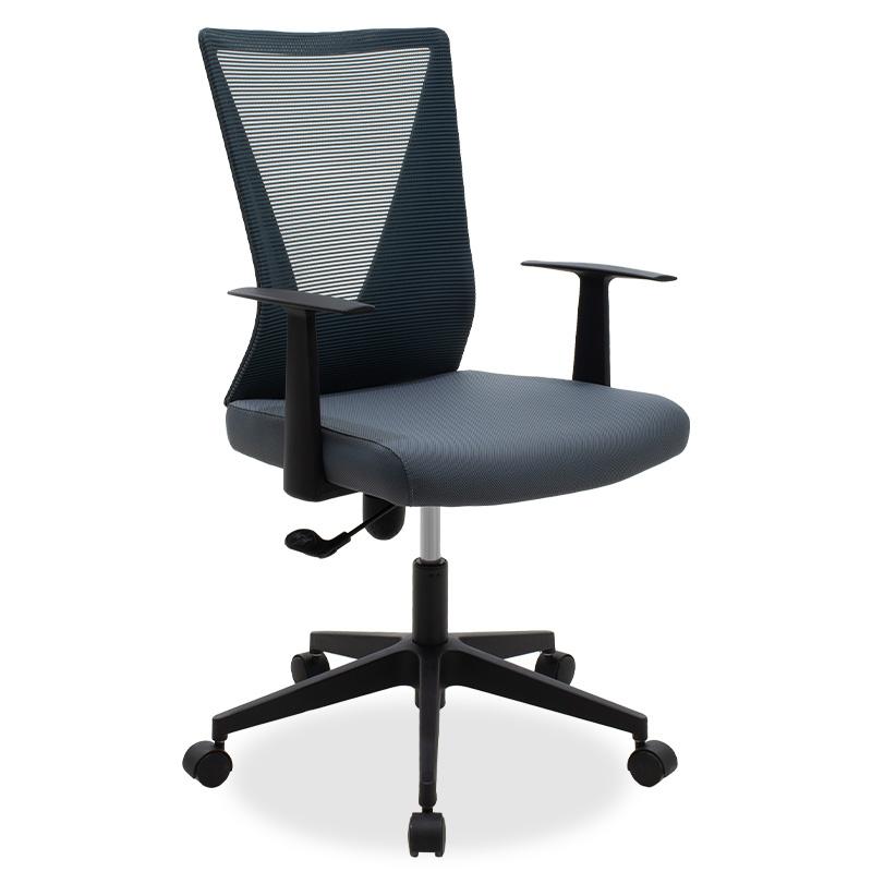 Καρέκλα Γραφείου Διευθυντή Ghost Με Ύφασμα Mesh Χρώμα Μαύρο - Γκρι