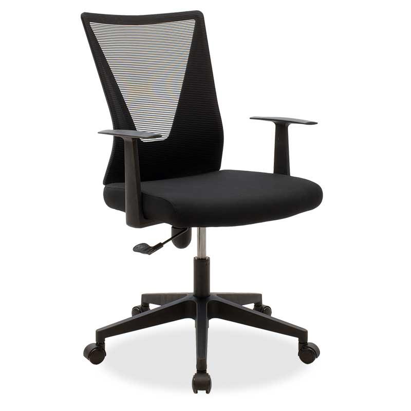 Καρέκλα Γραφείου Διευθυντή Ghost Pakoworld Με Ύφασμα Mesh Χρώμα Μαύρο