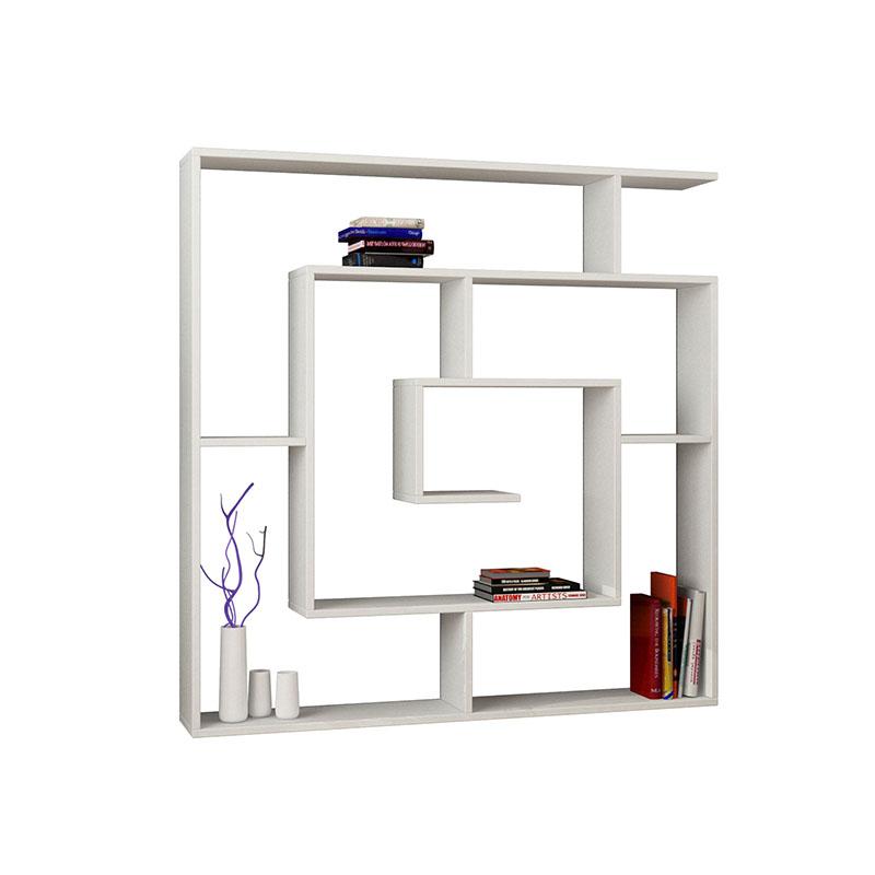 Βιβλιοθήκη Labirent Χρώμα Λευκό 125X22X129Εκ