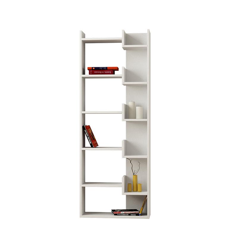 Βιβλιοθήκη Oppa Pakoworld Χρώμα Λευκό 61X22X162Εκ