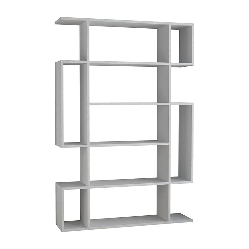 Βιβλιοθήκη Mito Pakoworld Σε Λευκό Χρώμα 108,5X25,5X161