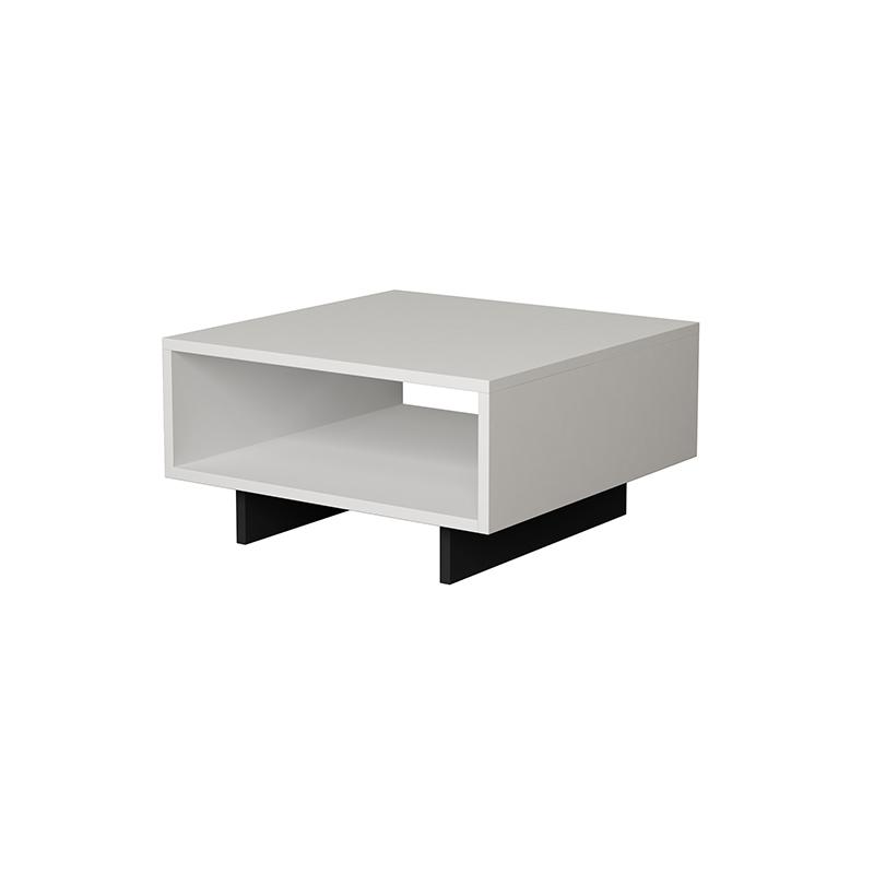 Βοηθητικό Τραπεζάκι Hola Χρώμα Antique Λευκό - Ανθρακί 60X60X32Εκ