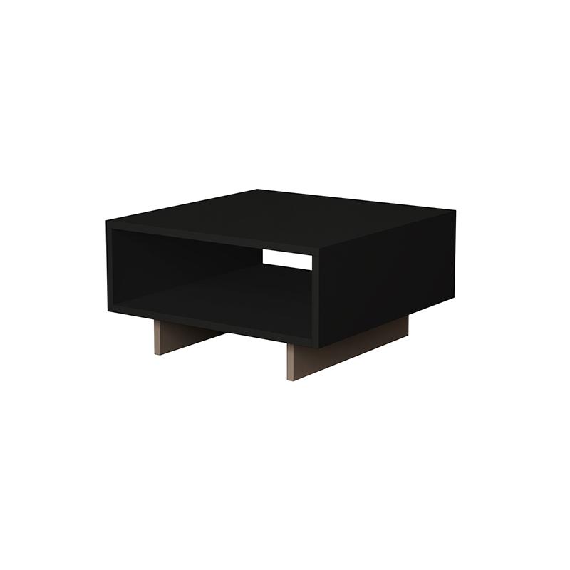 Βοηθητικό Τραπέζι Σαλονιού Hola Pakoworld Χρώμα Ανθρακί 60X60X32Εκ