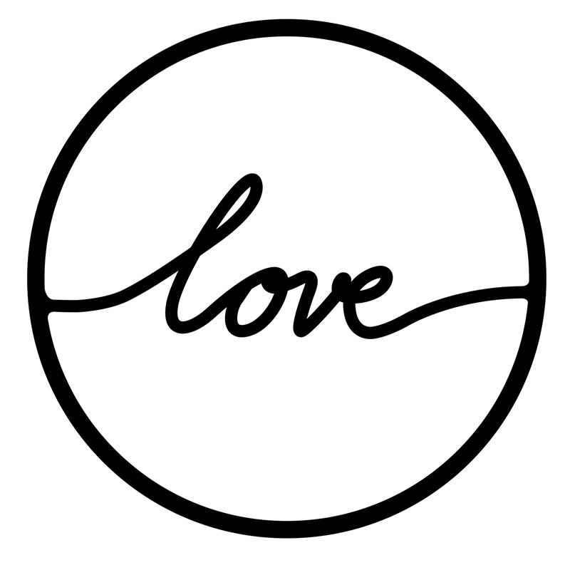 Μεταλλικό Διακοσμητικό Τοίχου Love Pakoworld 45X0,3X45Εκ