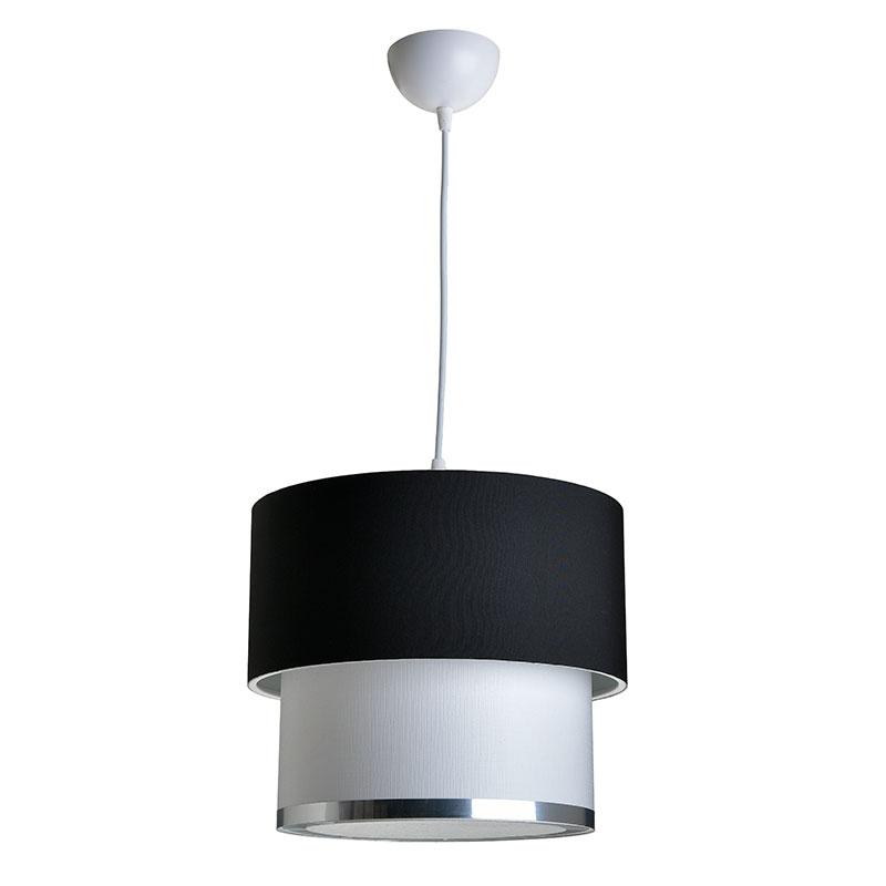 Φωτιστικό Οροφής Pwl-0963 Pakoworld Μαύρο-Λευκό Φ30X55Εκ