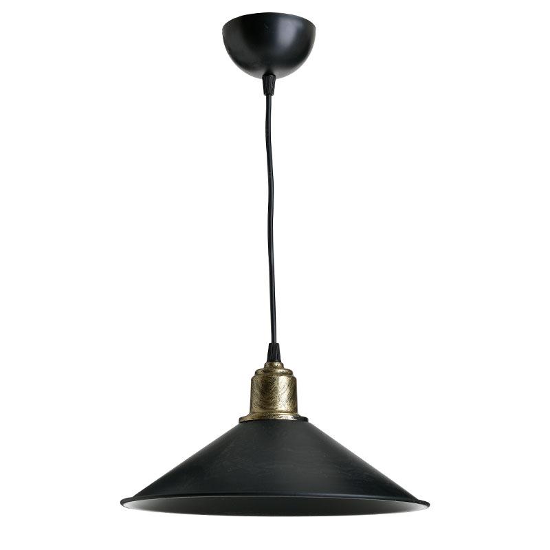 Φωτιστικό Οροφής Pwl-0964 Pakoworld Μαύρο-Bronze Antique Φ30X62Εκ