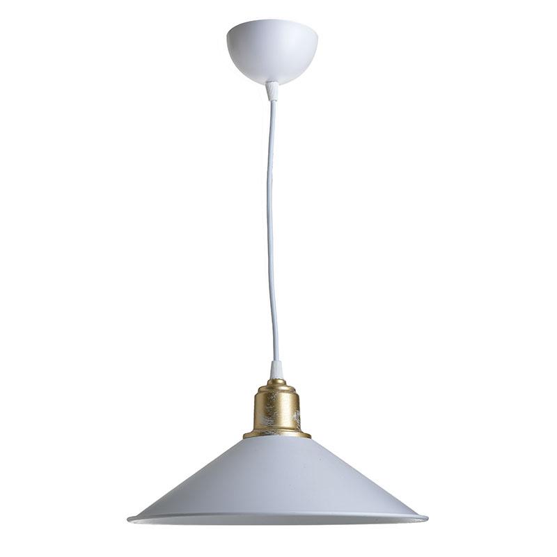 Φωτιστικό Οροφής Pwl-0964 Pakoworld Λευκό-Bronze Antique Φ30X62Εκ