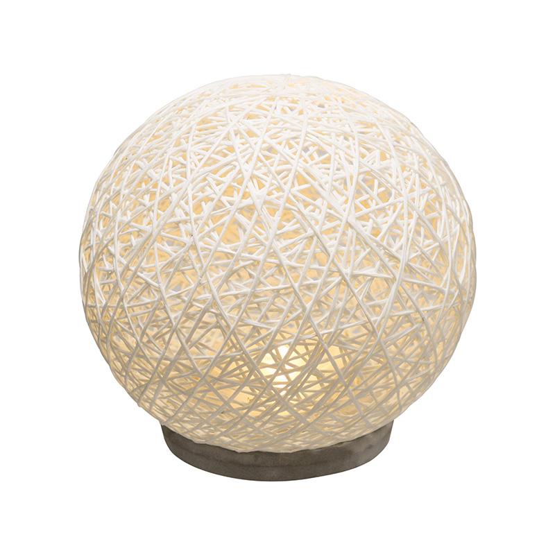 Επιτραπέζιο Φωτιστικό Ball Pakoworld Λευκό Με Led Φ18,5X18Εκ